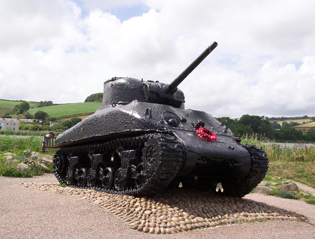 Sherman Tank recovered from Slapton waters in 1984