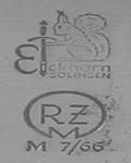 1937-1941: Both makers mark and RZM code for Eickhorn. Date on ricasso